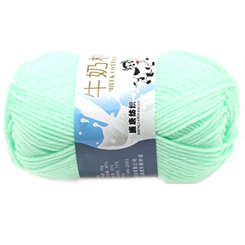 Suave Suave Leche algodón natural mano tejer lana