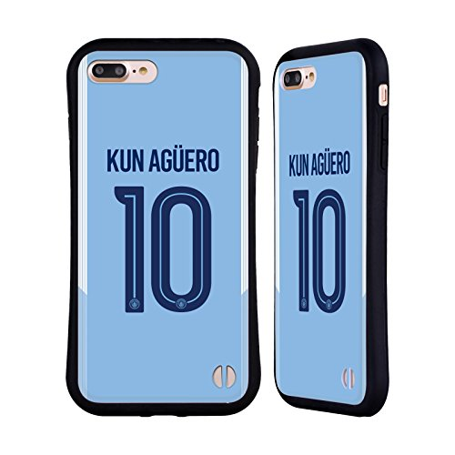 Ufficiale Manchester City Man City FC Nicolás Otamendi 2017/18 Giocatori Home Kit Gruppo 2 Case Ibrida per Apple iPhone 7 / iPhone 8 Sergio Kun Agüero