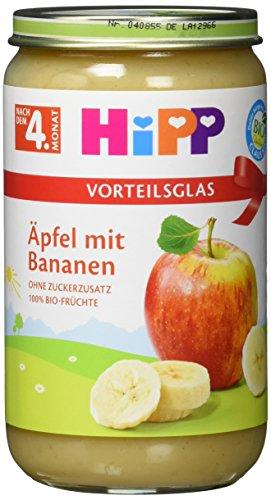 Hipp Früchte; Äpfel mit Bananen, 6er Pack (6 x 250 g)