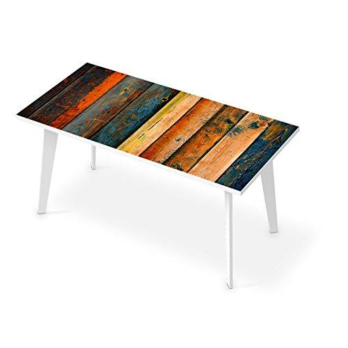 Tischposter XXL für Tisch 160x80 cm | Dekor Esstisch Sticker Aufkleber Folie Möbelfolie abwaschbar - Tisch dekorieren Esszimmer | Muster Ornament Wooden - Dekorieren Esszimmer Tisch