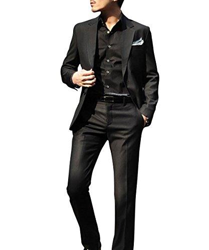 Herren Business Anzug 2-Knopf-Anzugjacke mit Anzughose (Einreiher Zwei-knopf-anzug Mit)