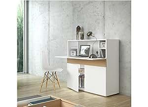 Bureau rétractable design FOCUS Blanc
