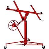 """superworth 11ft Heavy Duty Drywall Lift elevador de placas de yeso Panel de elevación Jack herramienta 70kg Capacidad de elevación con 4""""Caster ruedas Rolling con cerradura rojo"""