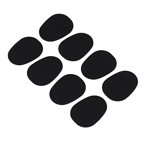 yibuy 0,8mm schwarz Typ 1Oval Form Mundstück Patches Pads Kissen für Saxophon Klarinette Alto Saxophon 8Stück