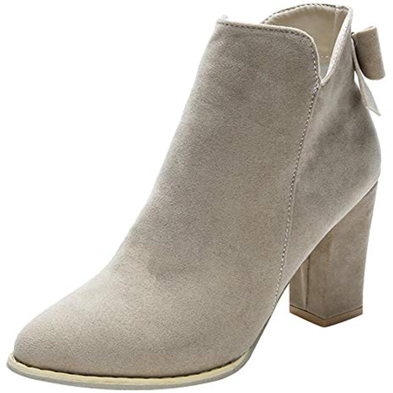 Sonnena Femme Boots Automne Hiver Flcok Pointu Bottines Cheville Bottes  Fermeture Fermeture Bottes eacute clair 03290653cded