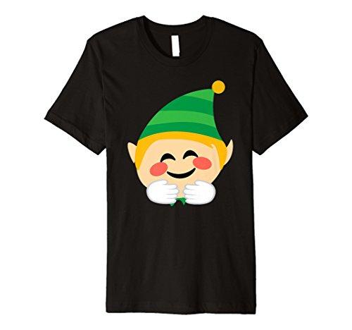 Santa Elf Emoji-T-Shirt Umarmung Weihnachten Funny Elf Geschenk