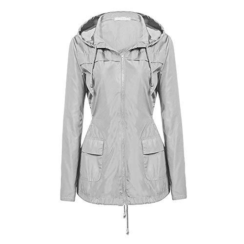 Yvelands Damen Regenjacke Jacken Regenmantel Wasserdicht Jacke Übergangsjacke -