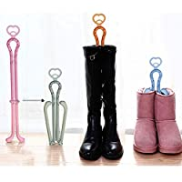KZWUS Folding Boot Shaper Stands Boots Knee High Shoes Clip Support Stand -Pack of 3 (Random Color)