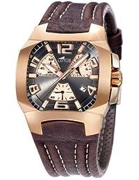 ff9ed250157e Lotus 15514-2 - Reloj cronógrafo de caballero de cuarzo con correa de piel  plateada