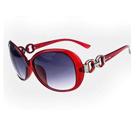 Froiny Shades übergroße Brillen Klassische Designer-Sonnenbrillen, für Frauen, UV400, Rot