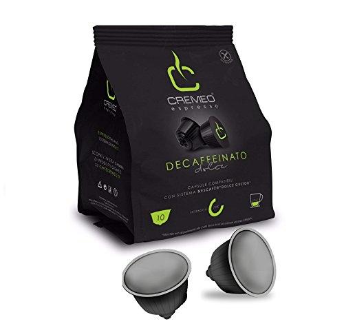Caffè Cremeo - 30 Capsule Assaggio Compatibili con Sistema Nescafè DOLCE GUSTO - Miscela Decaffeinato Espresso Bar