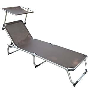 homcom chaise longue inclinable en aluminium pour jardin plage mer piscine. Black Bedroom Furniture Sets. Home Design Ideas