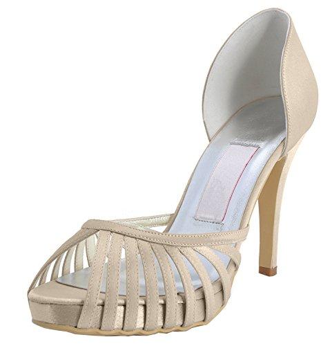 Heel Escarpins pour Champagne femme Minitoo 10cm 8OTwxxq