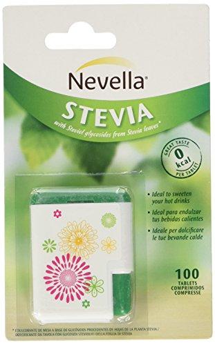 Nevella Stevia dispenser - 1 Dispenser da 100 Compresse [5 gr] - [confezione da 4]
