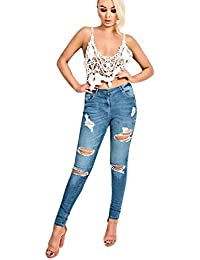 Women's Ladies Stunning Ripped Distressed Skinny jeans