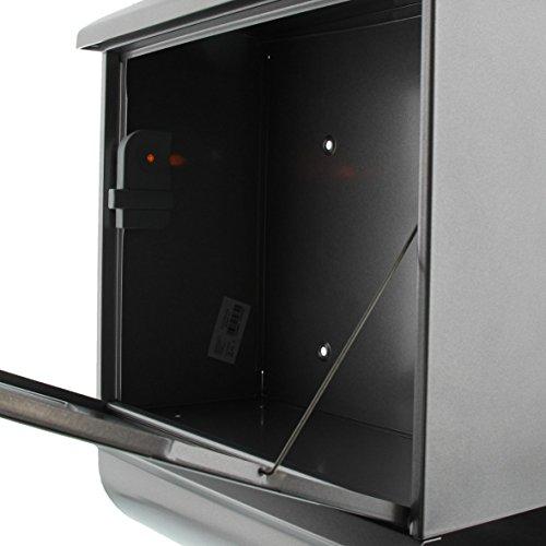 BURG-WÄCHTER, Briefkasten-Set mit integriertem Zeitungsfach, A4 Einwurf-Format, Verzinkter Stahl, Futura 926 Si, Silber - 5