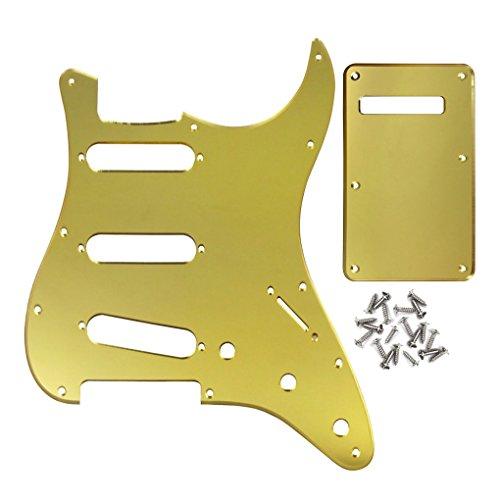 IKN SSS Strat E-Gitarre Schlagbrett-Set Rückseite 1Ply Golden Mirror