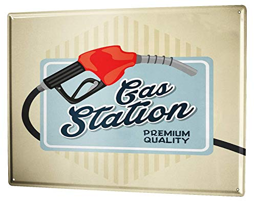 St574ony Metal Sign 12x16 Inches Poster Plaque Tin Plate Vintage Plaque Vintage Car Gas Station - Gas Station Sign Display