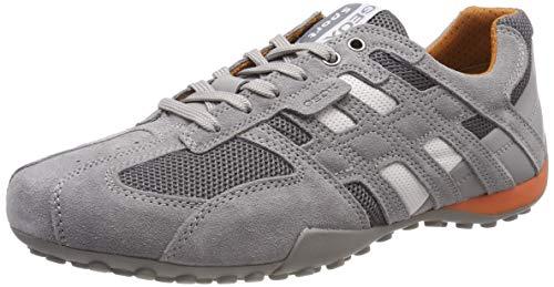 Geox Herren UOMO SNAKE K Sneaker Grau (Grey C1006) 43 EU - Geox-mesh-sneakers
