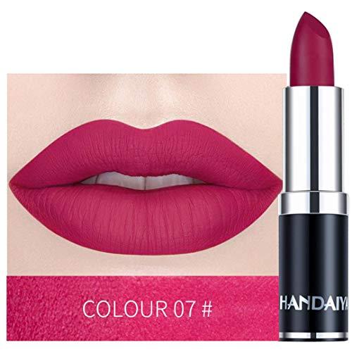 Piabigka Femmes Rouge à Lèvres Matte Maquillage Citrouille Brillant Couleur Étanche Rich Vitamine E Moisture (G)
