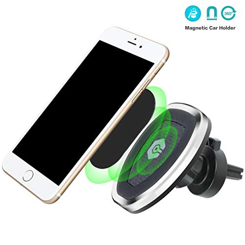 LoyaForba Magnetic Car Mount,360° Rotation Universal Air Vent Magnetic Mount,Cell Phone Holder for Car Compatible Samsung Galaxy S5, S6, S7, S8,S9 Plus LG, Phone Xs Max XR X 8 and More Smartphones - Swivel Mount Dock