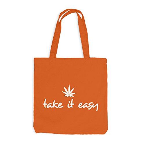 It Take Weed Jutebeutel Hanfblatt Orange Easy vfPR0