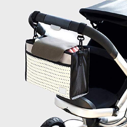 Nexlook Spaziergänger Organizer Taschen Wagen Pram Cart Save Mama Infant Windel Taschen Wasser Flasche Windel Tasche mit Cup Halter für Telefon