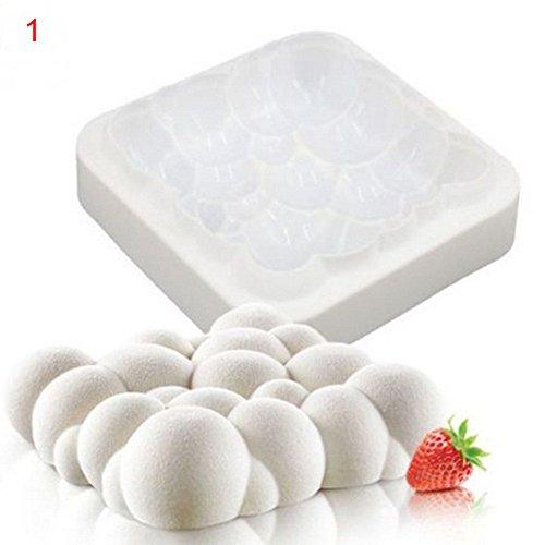 lzn 1x Kuchenform, Backform, Silikon Quadratische Runde Herzform 3D Kuchen Form Mousse Donut Backformen Maker Fach Küche Backenwerkzeuge