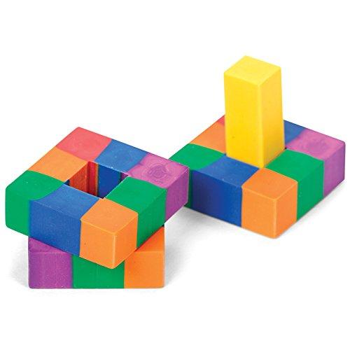 Tobar Radiergummi Würfel 4cm Schule Rubber Rubiks Puzzle Briefpapier Neuheit Füllstoffe 5 +