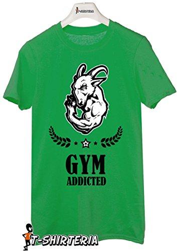 t-shirt humor Gym addictive, palestra, pesi, muscoli, ariete - tutte le taglie uomo donna maglietta by tshirteria