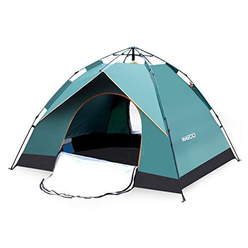 MIABOO Popup Zelt,Wurfzelt 3-4 Personen Wasserdichtes Pop up Zelt Ultraleicht mit Tragetasche für Camping
