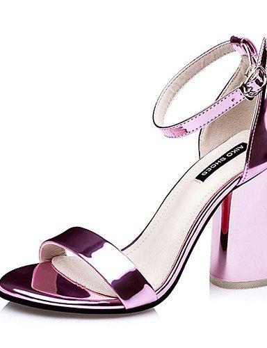 WSS 2016 Chaussures Femme-Décontracté-Jaune / Violet / Argent / Or-Gros Talon-Talons-Talons-Polyuréthane yellow-us6.5-7 / eu37 / uk4.5-5 / cn37