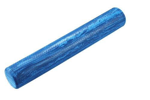 (Trendy Sport Pilates Rolle, Fitnessrolle, Yoga-Rolle mit 91 cm Länge, Ø 15 cm in hellblau, Optik marmoriert)
