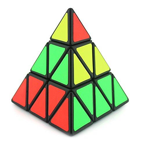 Maomaoyu Pyraminx Cube 3x3 3x3x3 Speed Cube Pyramide Triangle Magique Magic Cube Puzzle Ultra Rapide (Noir)