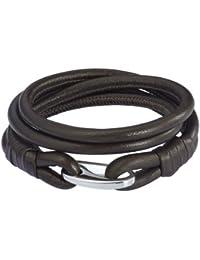 Rafaela Donata Unisex-Armband Edelstahl Leder 60907025