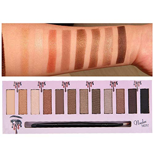 Hukz Make-up Lidschatten Lidschatten-Palette Kosmetik Set Lidschatten 12 Farben (C)