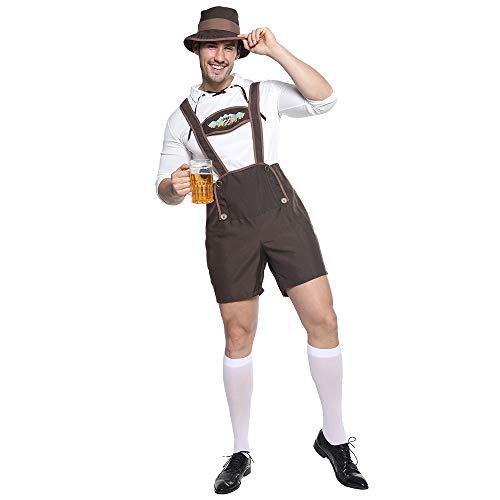 Bayerische Männer Kostüm - EraSpooky Herren Oktoberfest Bayerisches Kostüm Faschingskostüme Cosplay Party Karneval Fastnacht Kleidung für Erwachsene