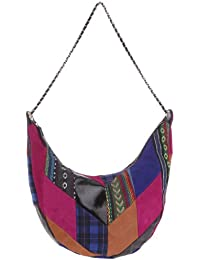 American Retro Patchwork Bag Npatba - Bolso al hombro de tela para mujer