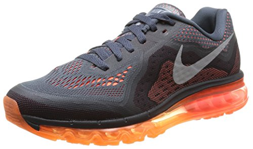 Nike Men's Air Max 2014 Dark Magnet Grey,Reflect Silver,Hyper Crimson  Running Shoes -10 UK/India (45 EU)(11 US)  available at amazon for Rs.11246