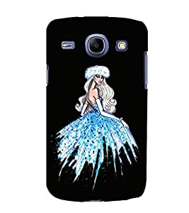 Girl with Blue Dress Hard Polycarbonate Designer Back Case Cover for Samsung Galaxy Core I8260 :: Samsung Galaxy Core Duos I8262