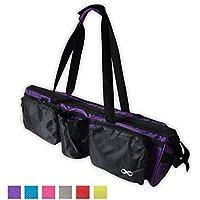"YogaAddict Yoga Mat Tote Gym Bag Supreme con Bolsillo, 30""de Largo, Extra Grande, Apto para la mayoría del tamaño de tapete, Compartimento para Bloque de Yoga, fácil Acceso - Púrpura"