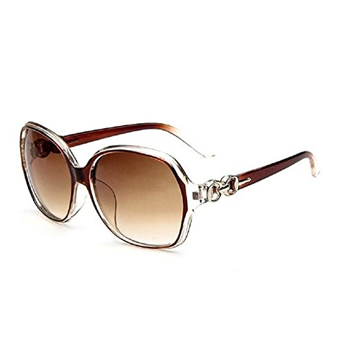 DaoRier Sonnenbrille Polarisiert UV-Schutz Mode Damen Frauen Großer Rahmen Schutzbrillen Brillen Widerstehen der Sonne Khaki