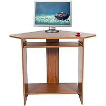 Mari Home - Clifton Noce Scrivania per ufficio computer Scaffale Ripiani computer desk angolare Tavolo (Ufficio Noce Scrivania)