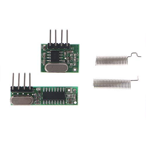 BIlinli 1 Set HF-Modul 433 MHz Superheterodyn-Empfänger und Sender-Kit mit Antenne für Arduino - Hf-empfänger