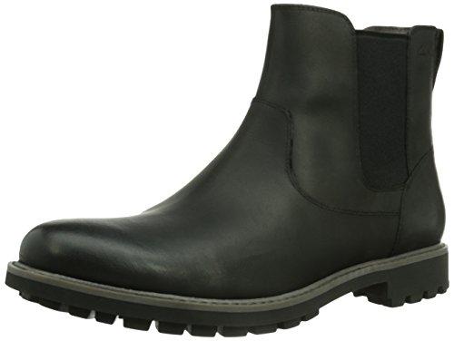 Clarks Montacute Top, Herren Chelsea Boots, Schwarz (Black Leather), 40 EU