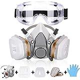 Atemschutzmaske Gasmaske mit Doppelfilterpatronen,Halbmaske mit...
