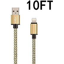 iPhone Cable, marktol 10ft Cable Lightning Cable de carga trenzado de nailon para iphone 7/7 Plus, 6/6S/6 Plus/6S Plus, 5/5S/5 C/se, iPad, iPod Nano 7, iPod Touch