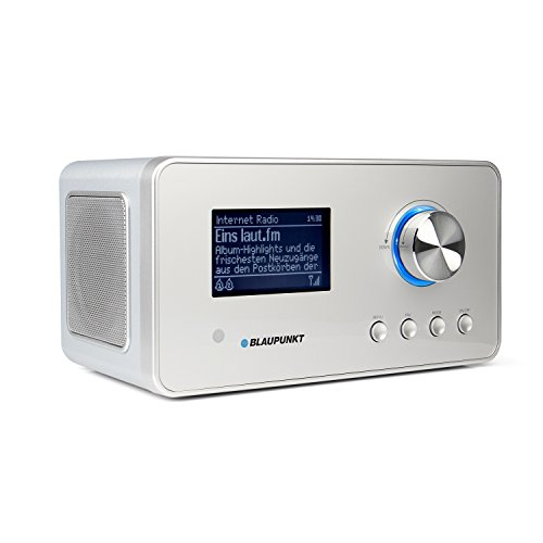 Blaupunkt IRD 30 Internetradio- DAB+-Radio - Digitalradio mit Radiowecker - Wlan Küchenradio- Digital-Radio als Badradio - DAB - UKW-Tuner - Miniradio in Retro-Design - Uhrenradio, Silber