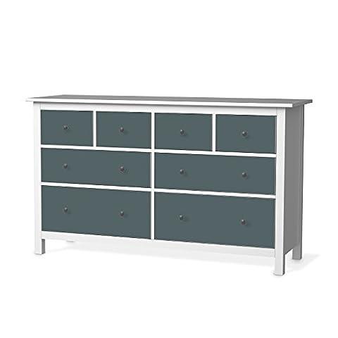 Klebefolie für IKEA Hemnes Kommode 8 Schubladen | Möbeldekor Klebefolie Sticker Aufkleber Möbel folieren | Wohnen und Dekorieren Wohnzimmer Wohndeko | Farbe Blaugrau 2