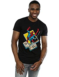 Marvel Men's Spider-Man Block T-Shirt